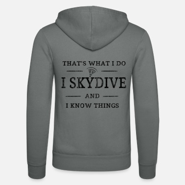 Skydive Skydiving - Unisex Hooded Jacket by Bella + Canvas