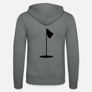 Golf Mini Golf, Golf, golf, flag, golf, golf clubs, - Unisex Zip Hoodie