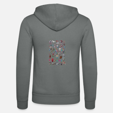 Graffiti pop surrealisme - Unisex hættejakke