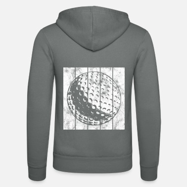 Ball Golf club Retro golf golfer sgolfers golfer - Unisex Zip Hoodie