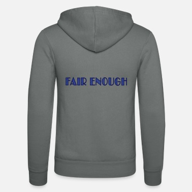 Wortspiel fair enough - Unisex Kapuzenjacke
