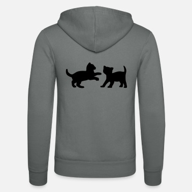 Two Two Kittens Playing - Unisex Zip Hoodie