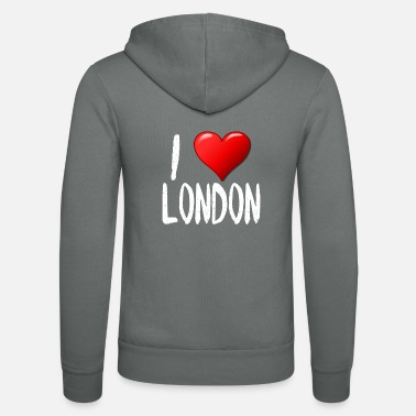 I Love London - Unisex Zip Hoodie