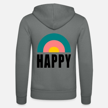 Happiness Happy. happy. happiness. HAPPINESS. FREEDOM - Unisex Zip Hoodie