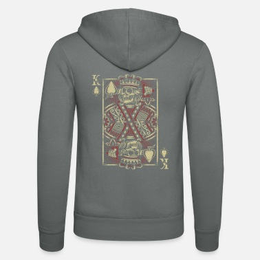 Cards Poker King Skeleton Card As - Unisex zip hoodie