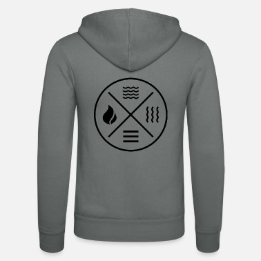 Elements The 4 elements - fire, water, earth, air - Unisex Zip Hoodie