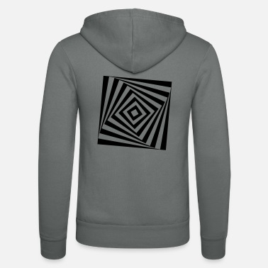 Turn The Rectangle Rotates rotating rectangle - Unisex Zip Hoodie