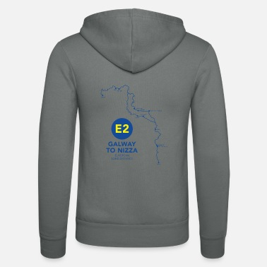 European Long Distance Hiking Trail E2 Galway to Nice - European long distance hiking trail - Unisex Zip Hoodie