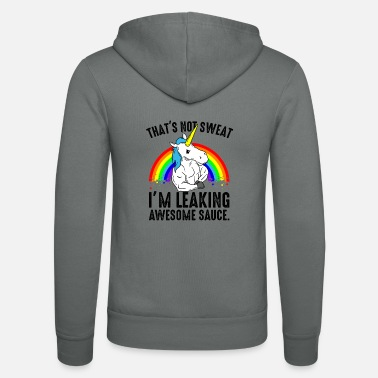 Workout Gym unicorn - grappig gezegde fitness workout fun - Unisex zip hoodie