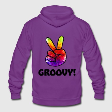 GROOVY gift idea! groovy / peace gift !! ;) - Unisex Hooded Jacket by Bella + Canvas