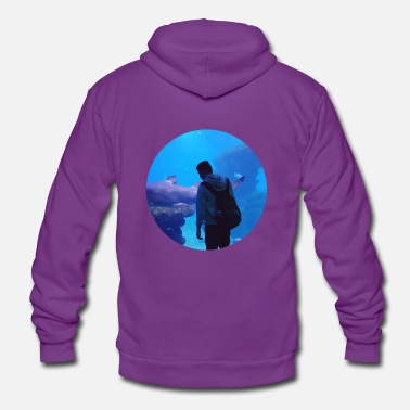 Under Water under water hai aquarium - Unisex Zip Hoodie