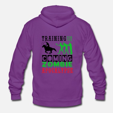 Training Zombie Apocalypse Horse Riding Cowboys - Unisex Zip Hoodie