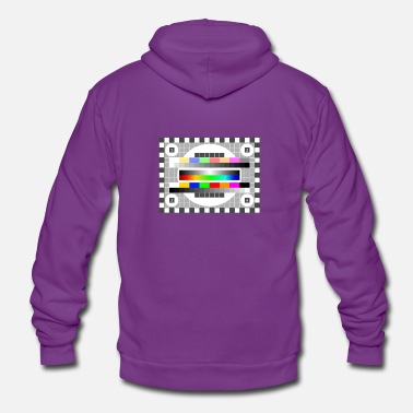 Mtv testbild Colors Pattern TV Retro stylish gradient fu - Unisex Zip Hoodie