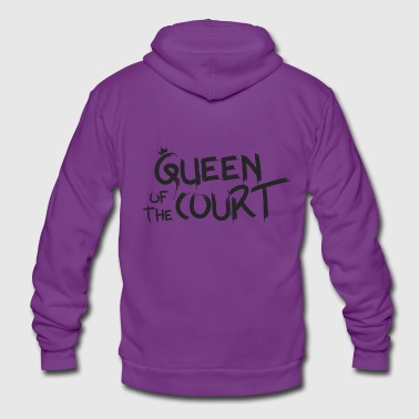 Queen of the court - Unisex Hooded Jacket by Bella + Canvas