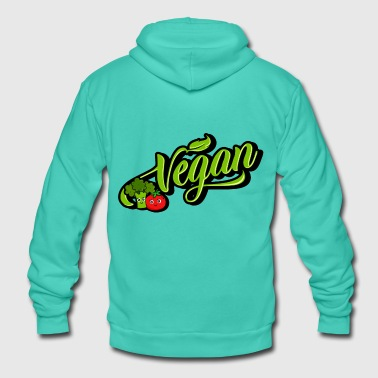 Vegan - Vegan (Broccoli Tomato) - Unisex Hooded Jacket by Bella + Canvas
