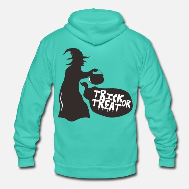 Trick or Treat heks - Unisex hoodie van Bella + Canvas