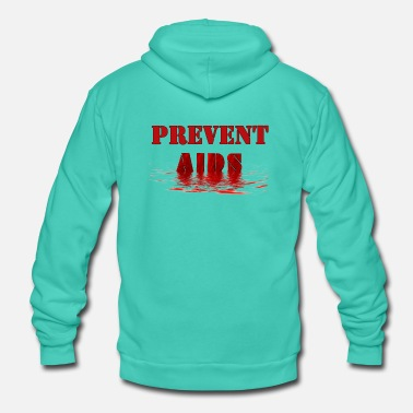 Aids-awareness Prevent AIDS HIV Awareness - Unisex Hooded Jacket by Bella + Canvas