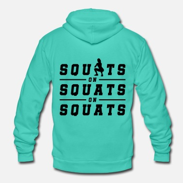 Squat fitness woman squats - Unisex Hooded Jacket by Bella + Canvas