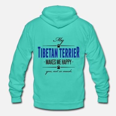 Tibetan My Tibetan Terrier makes me happy - Unisex Hooded Jacket by Bella + Canvas