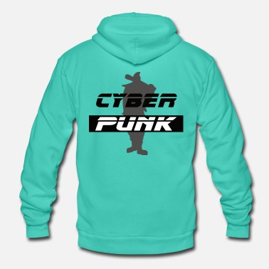 Cyber Punk Cyber Punk 02 - Unisex Hooded Jacket by Bella + Canvas