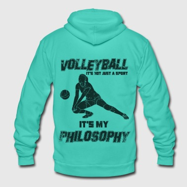 Dredge Dredging volleyball - Unisex Hooded Jacket by Bella + Canvas