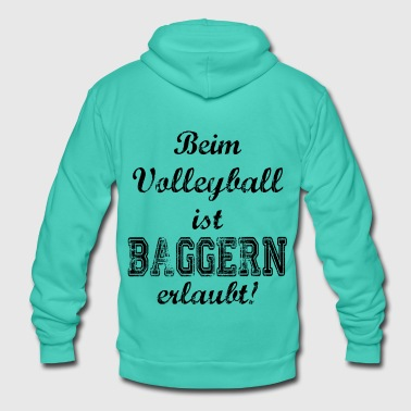 Dredge Sport saying dredge volleyball - Unisex Hooded Jacket by Bella + Canvas