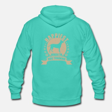 Dog Training Dog Lover Happiest When I'm Training Dogss - Unisex Hooded Jacket by Bella + Canvas