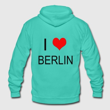 I Love Berlin I love Berlin / I love Berlin NEW - Unisex Hooded Jacket by Bella + Canvas