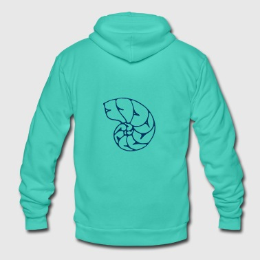 Pollution Ocean shell - Unisex Hooded Jacket by Bella + Canvas