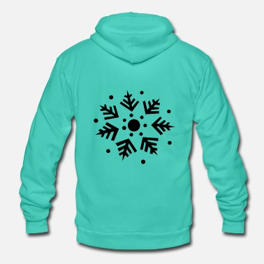 Snowflake gift idea ice crystal - Unisex Hooded Jacket by Bella + Canvas