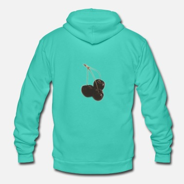 Breast Cancer Ribbon cherry - Unisex Hooded Jacket by Bella + Canvas