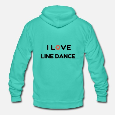 Linedancing I love Line Dance - Shirt for Linedancer - Unisex Hooded Jacket by Bella + Canvas