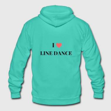Linedancing Cool slogan shirt: I love Line Dance - Unisex Hooded Jacket by Bella + Canvas