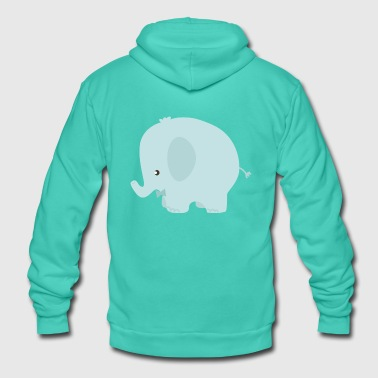 cute ELEPHANT - Unisex Hooded Jacket by Bella + Canvas