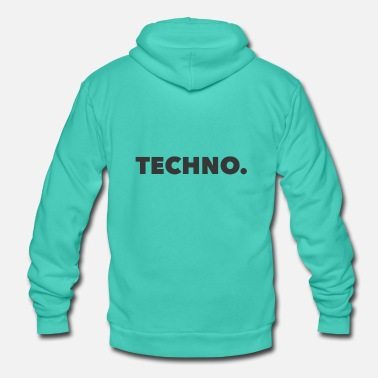 Music Techno Music Logo gray - Unisex Hooded Jacket by Bella + Canvas