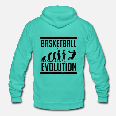 Streetball Basketball Evolution Dunking T-Shirt - Unisex Hooded Jacket by Bella + Canvas