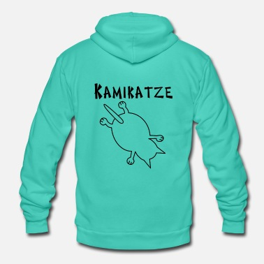 Kamikaze Kamikaze Cat - Unisex Hooded Jacket by Bella + Canvas