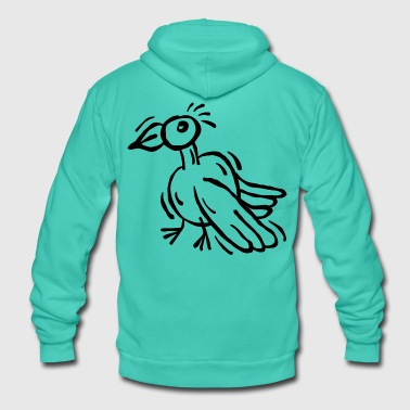 Bird drawing raven eagle cartoon - Unisex Hooded Jacket by Bella + Canvas