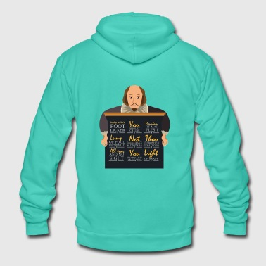 Shakespeare Insults Gift - Unisex Hooded Jacket by Bella + Canvas