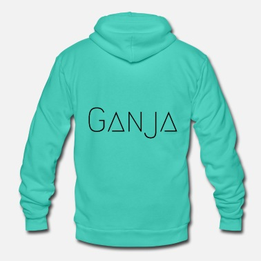 Ganja Ganja Black - Unisex Hooded Jacket by Bella + Canvas