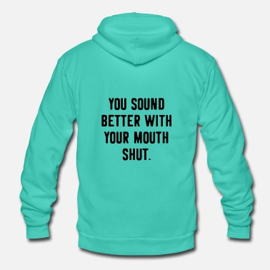 Provocative Provocation provocative Funny saying - Unisex Zip Hoodie