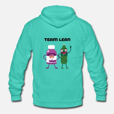 Sprite Team Sprite and Codaine Lean Couple Funny Friends - Unisex Hooded Jacket by Bella + Canvas
