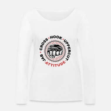 Uppercut jab hook uppercut attitude - Women's Organic Longsleeve Shirt by Stanley & Stella