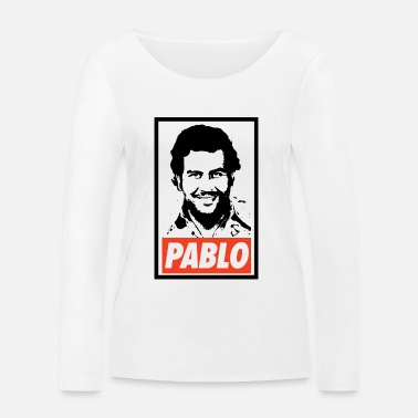 Obey Pablo Escobar Obey - Narcos - T-shirt manches longues bio Stanley & Stella Femme