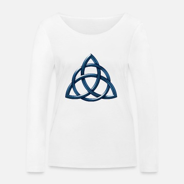 Celtic Knot Celtic Encircled Triquetra Circle - Women's Organic Longsleeve Shirt by Stanley & Stella