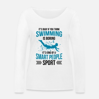 Swim Swimmer swimming swimming instructor gift - Women's Organic Longsleeve Shirt by Stanley & Stella