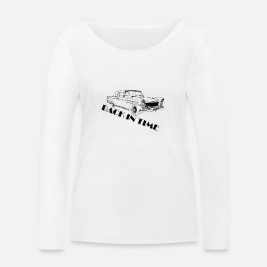 Back in time black - Women's Organic Longsleeve Shirt