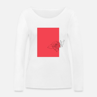 Red Rose Red rose - Women's Organic Longsleeve Shirt by Stanley & Stella