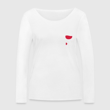 Cupido wine is my valentine - Women's Organic Longsleeve Shirt by Stanley & Stella