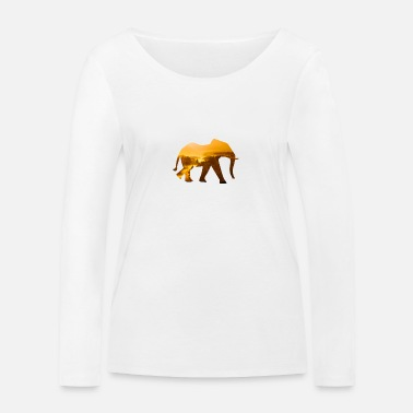 Elephant - In the sunrise in India - Women's Organic Longsleeve Shirt